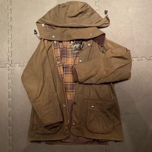 Barbour classic bedale size 34 waxed cotton jacket
